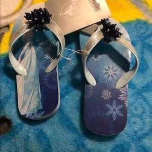 Frozen new flip flops